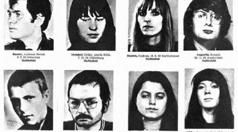 "Undated police hand-out of a Red Army Fraction members wanted list. Upper row L to R: Andreas Baader, Ulrike Meinhof, Gudrun Ensslin and Ronald Augustin. Below L to R: Jan-Carl Raspe, Klaus Juenschke, Ilse Stachowiak und Irmgard Mueller. The RAF announced 20 April its dissolution, in a eight-page letter to a press agency confirmed by the federal prosecutor's office but to be verified by criminal police. The letter said: ""Today we end this project. The urban guerilla battle of the RAF is now history."""