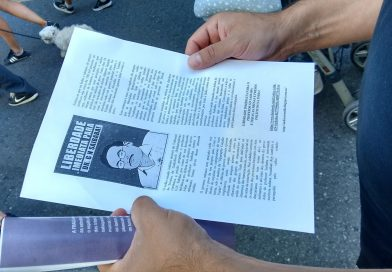 Galiza: Distribution of leaflets on the serious situation of Professor GN Saibaba