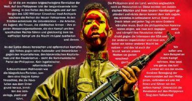 Podržimo revoluciju na Filipinima – za pobjedu narodnog rata!