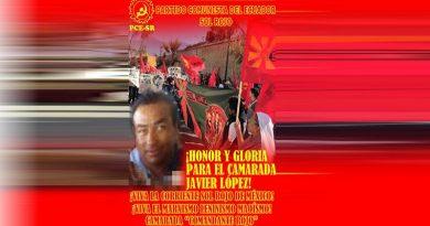 Ecuador: Hæder og ære til Kammerat Javier López!