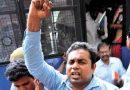 Maoist raises slogans supporting farmers