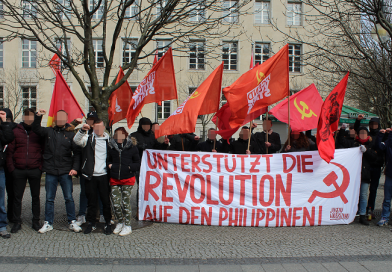 Powerful campaign for the support of the revolution in the Philippines
