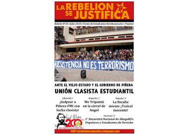 La Rebelión se Justifica #20 Editorial – Hit Piñera-FMI with class struggle!