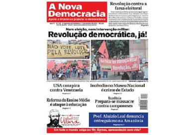 A Nova Democracia nº 216 Editorial – Militarization of the elections reflects deep crisis
