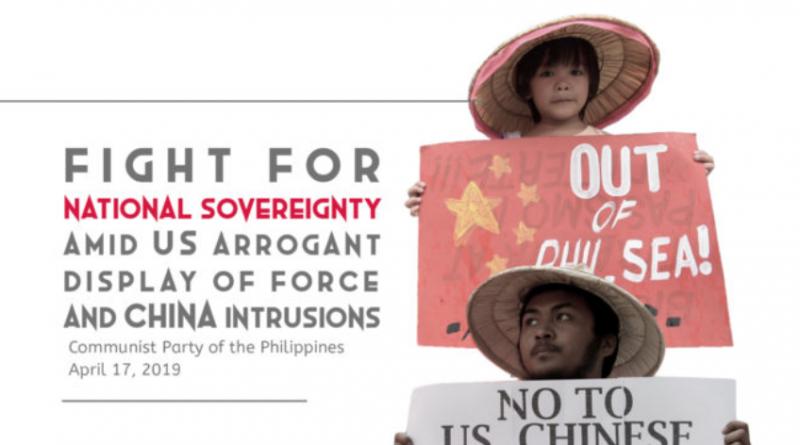 为菲律宾在美国武力压迫和中国入侵下争取国家主权而斗争