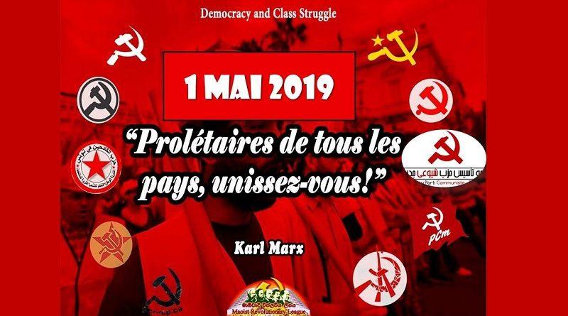"""Declaración conjunta del 1º de mayo de 2019 – """"¡Primero de mayo Rojo e internacionalista!"""""""