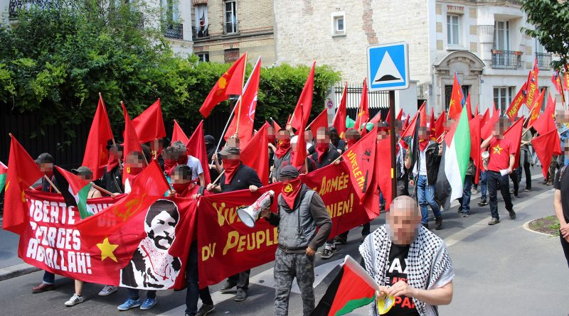 For the 4th year, a powerful demonstration for Georges Abdallah stormed the streets of Paris!