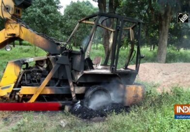 Naxalites Torch Five Road Construction Vehicles In Rajnandgaon District