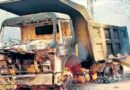 CPI Maoist Squad Torch 4 Construction Vehicles In West Singhbhum District